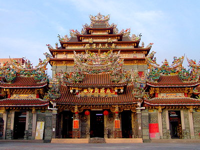 (Tourist Attraction) Temple of the God of Fortune in Beigang