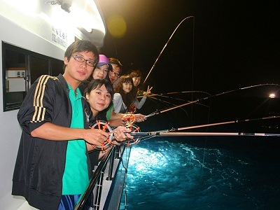 Mid-summer Night Fishing for Squids in Penghu