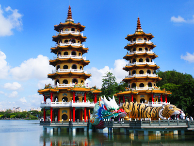 International Tourist Attraction at Lotus Lake – The Dragon and Tiger Pagodas