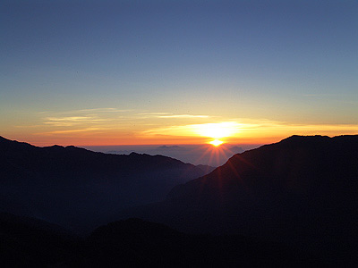 The Colorful Sunrise in Mt. Hehuan