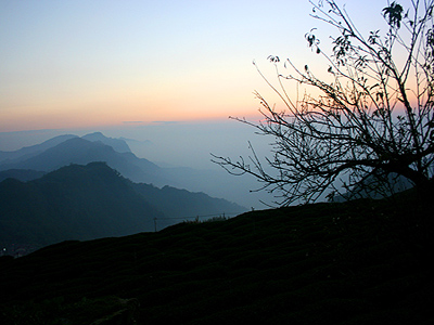 The sunset and natural sights at Jhuo (石棹)area