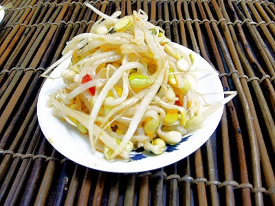 Spicy Stir-fried Bean Sprouts (Recipe Bible)