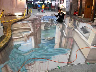 3D Pavement Art to Reveal in the KMRT Formosa Boulevard Station