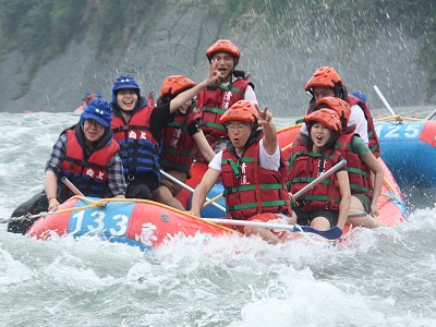 Rafting tour of Xiuguluan River in Hualien