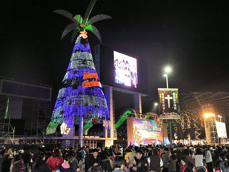 29 meter Christmas main lights in Kaohsiung National Stadium
