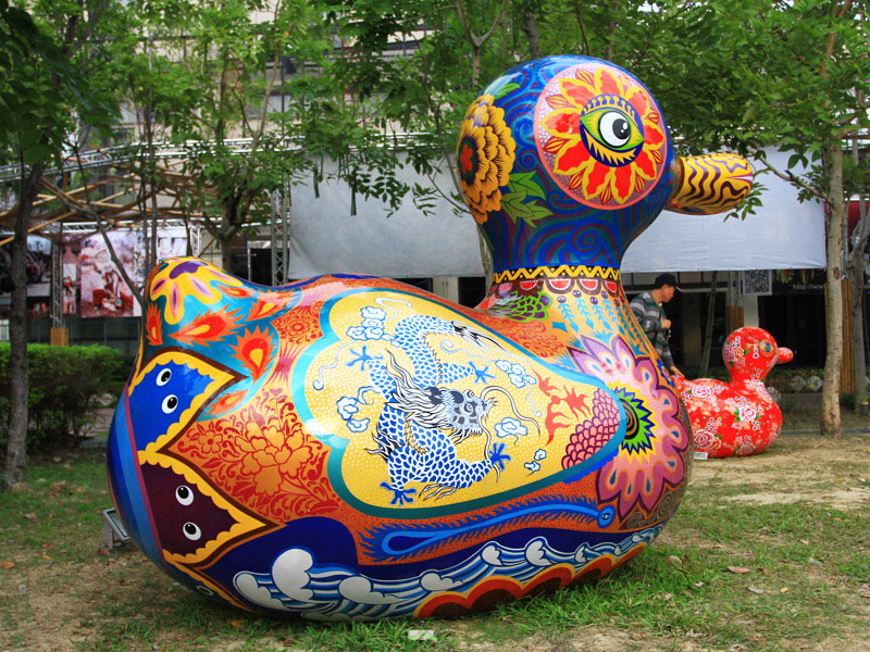 Colorful Happy Duck in Taichung
